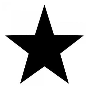 star-silhouette public domain